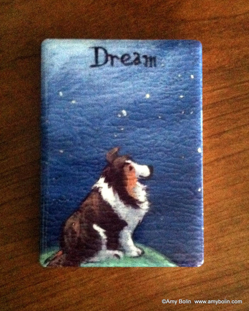 """Dream"" Sable Sheltie Magnet"