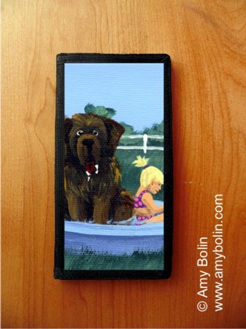 """Bathing Beauties"" Brown Newfoundland Checkbook Cover"