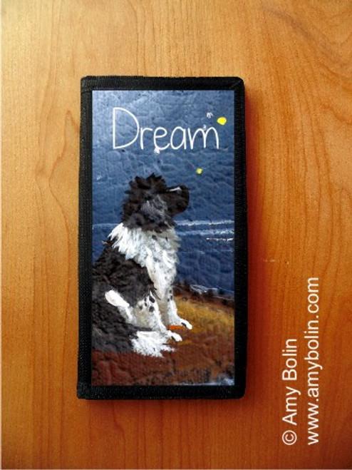 """Dream"" Landseer Newfoundland Checkbook Cover"