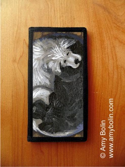 """Yin Yang' Black Newfoundland & Great Pyrenees Checkbook Cover"