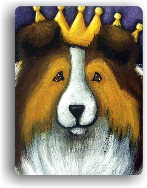 """The Queen"" Sable Sheltie Magnet"
