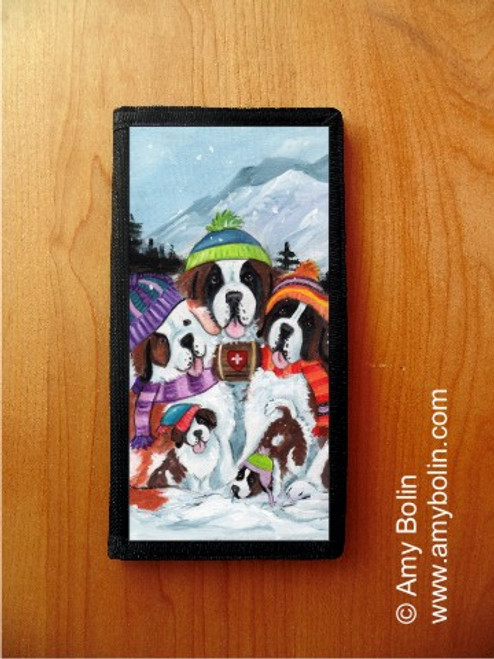 CHECKBOOK COVER · GENERATIONS · SAINT BERNARD · AMY BOLIN