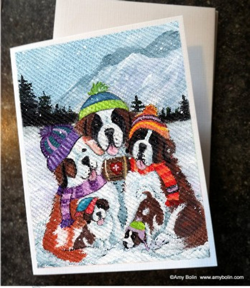 """Generations"" Saint Bernard Note Cards"