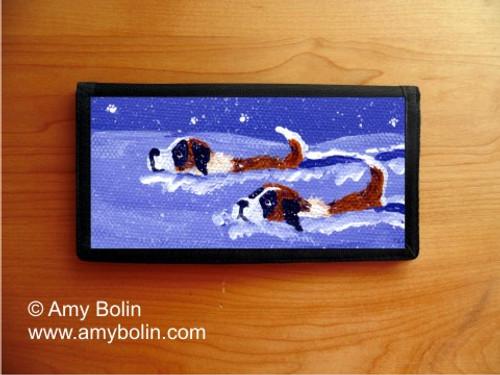 CHECKBOOK COVER · SAINT DEEP IN THE SNOW · SAINT BERNARD · AMY BOLIN