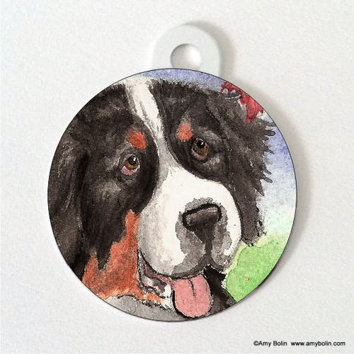 DOUBLE SIDED PET ID TAG · AUTUMN BERNER · BERNESE MOUNTAIN DOG · AMY BOLIN
