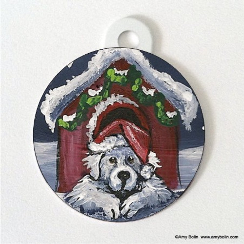 """""""Believe"""" Great Pyrenees Double Sided Pet ID Tag"""