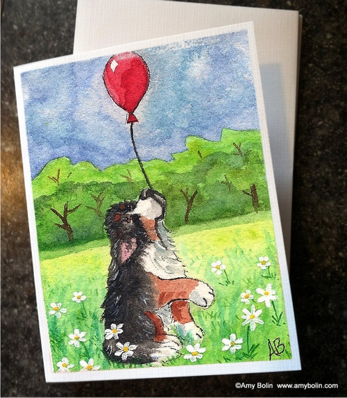 """""""Fly Away"""" Bernese Mountain Dog Note Cards"""