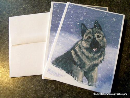 """Norwegian Elkhound 1"" Norwegian Elkhound Note Cards"