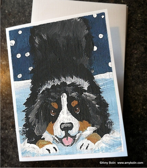"""""""Let's Play"""" Bernese Mountain Dog Note Cards"""