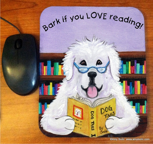 """""""Dog Tails Vol 2"""" Great Pyrenees Mouse Pad"""