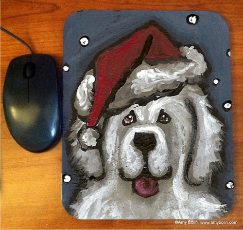 """""""Shaggy Claws"""" Great Pyrenees Mouse Pad"""