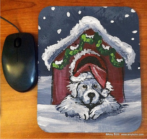 """""""Believe"""" Great Pyrenees Mouse Pad"""