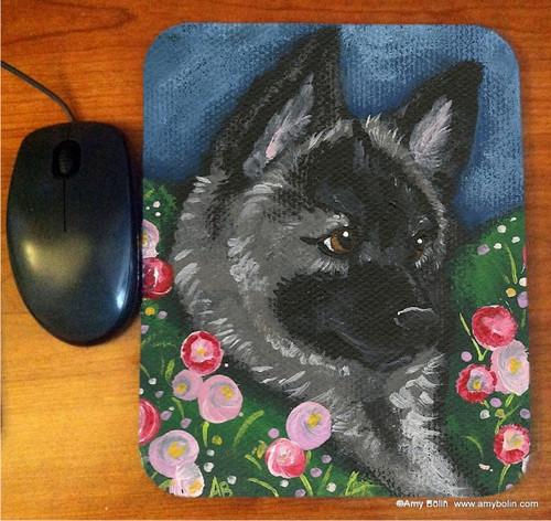 """Mom's Favorite Flower"" Norwegian Elkhound Mouse Pad"