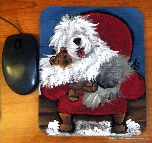 """""""Just Me & Ted"""" Old English Sheepdog Mouse Pad"""