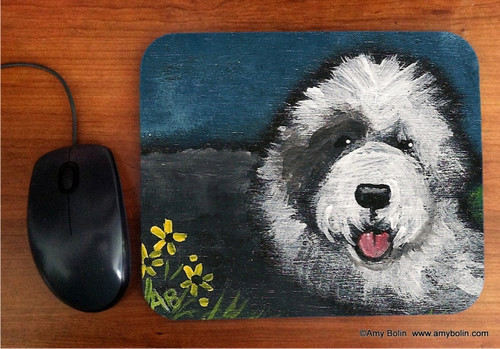 """""""Toby"""" Old English Sheepdog Mouse Pad"""