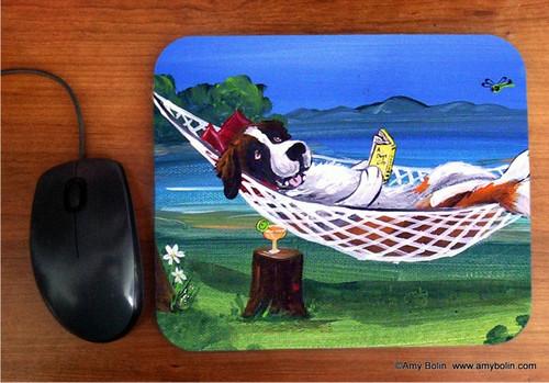 """""""The Best Summer Ever"""" Saint Bernard Mouse Pad"""