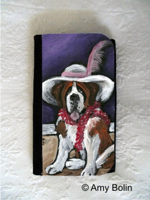 LARGE ORGANIZER WALLET · ALL DRESSED UP WITH NOWHERE TO GO · SAINT BERNARD · AMY BOLIN