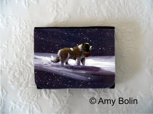 """A Ray Of Hope"" Saint Bernard Small Organizer Wallet"