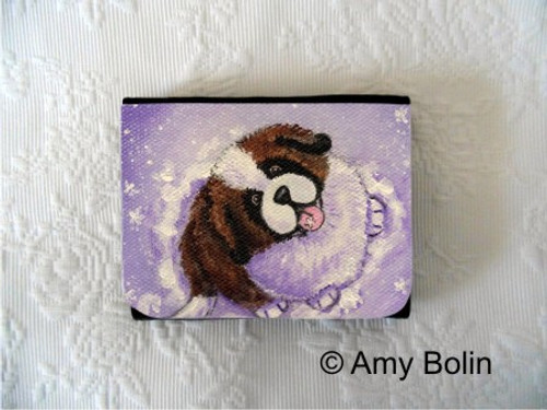 """A Taste Of Winter"" Saint Bernard Small Organizer Wallet"