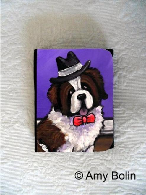"""""""Dapper Dog"""" Saint Bernard Small Organizer Wallet"""