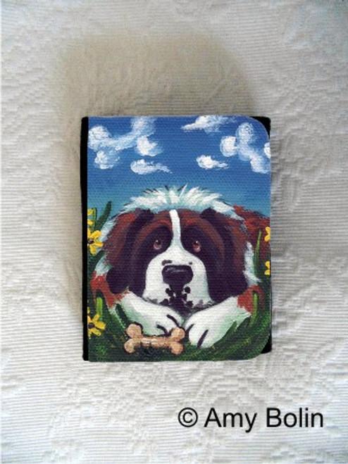 """Doggie Daydreams"" Saint Bernard Small Organizer Wallet"