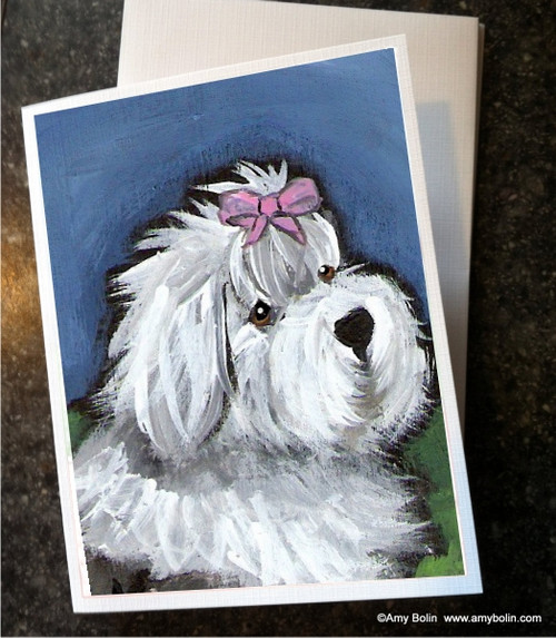 """All Gussied Up"" Old English Sheepdog Note Cards"