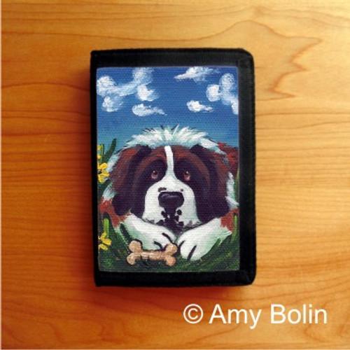 """Doggie Daydreams"" Saint Bernard Trifold Wallet"