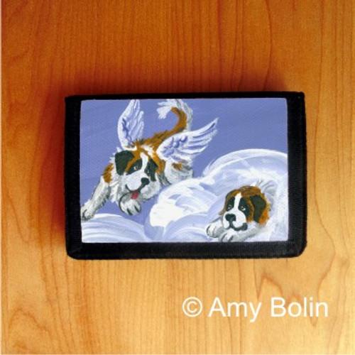 """""""Heavenly Hide & Seek"""" Saint Bernard Trifold Wallet"""