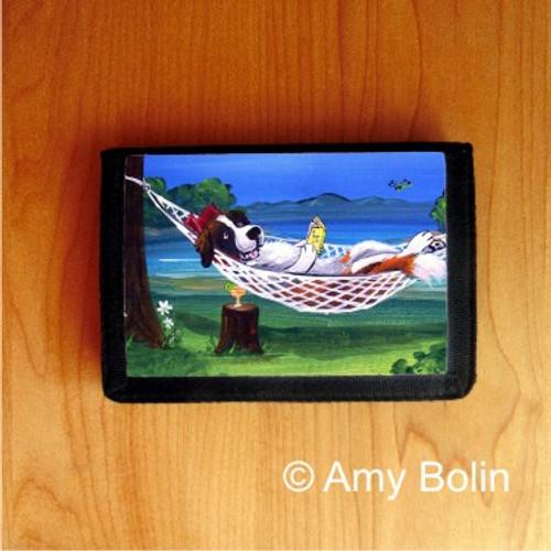 """""""The Best Summer Ever"""" Saint Bernard Trifold Wallet"""