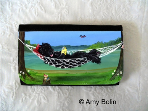 """""""This Is The Life"""" Black Newfoundland Large Organizer Wallet"""