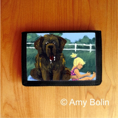 TRIFOLD WALLET · BATHING BEAUTIES · BROWN NEWFOUNDLAND · AMY BOLIN