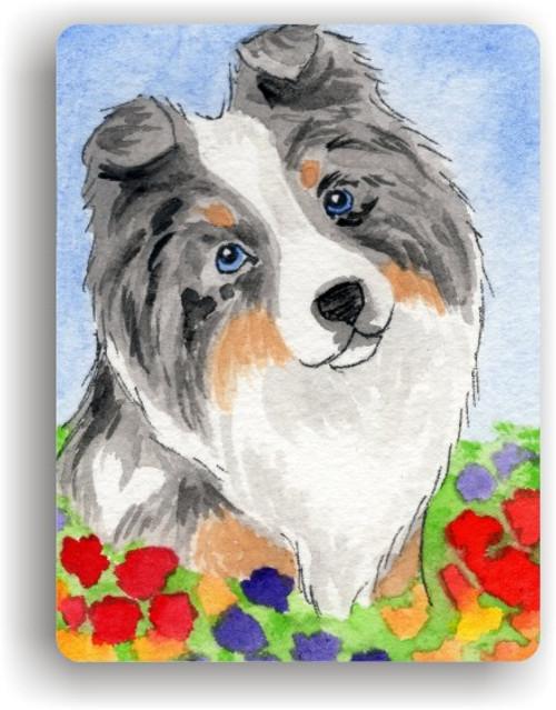 """Puppy Love"" Blue Merle Sheltie Magnet"