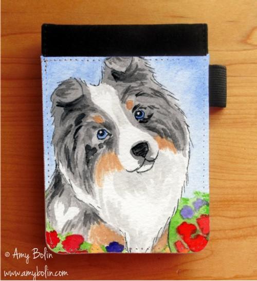 """Puppy Love"" Blue Merle Shetland Sheepdog Notebooks (several sizes available)"