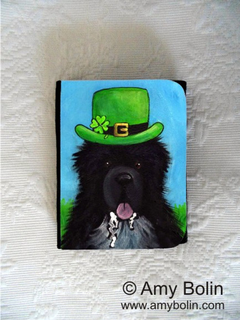 """A Big, Wet Irish Kiss"" Irish Spotted Newfoundland Small Organizer Wallet"