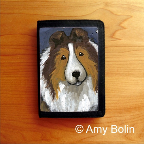 """""""In The Snow Again""""  Sable Shetland Sheepdog Trifold Wallet"""