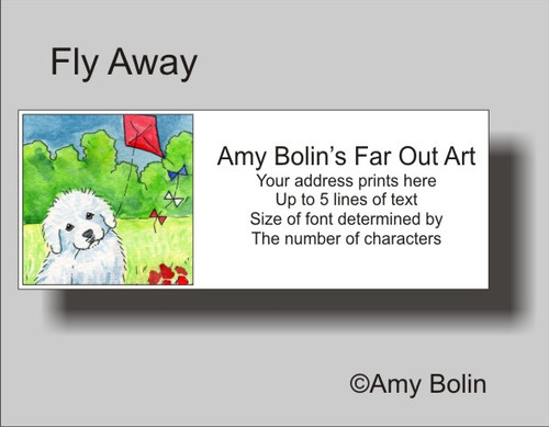 """""""Fly Away"""" Great Pyrenees Address Labels"""