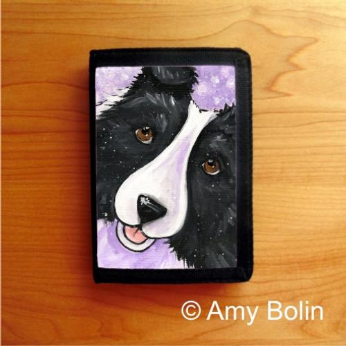 """""""Wish Upon A Snowflake"""" Bi Black Shetland Sheepdog Trifold Wallet"""
