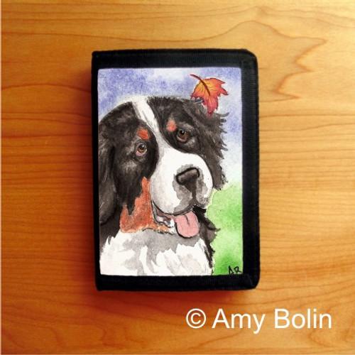 """Autumn Berner"" Bernese Mountain Dog Tri Fold Wallet"