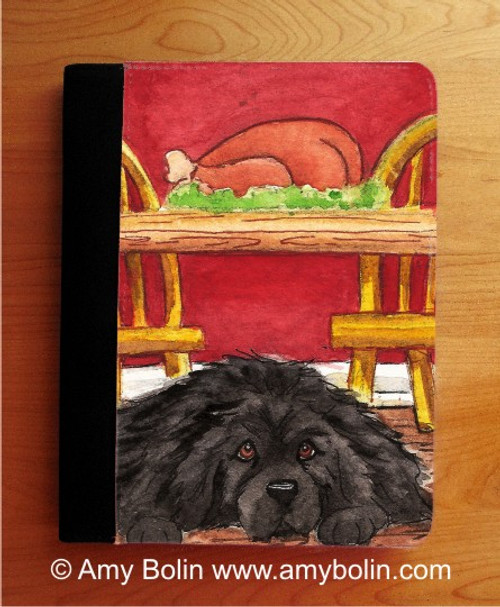 """""""So Hard To Be Good"""" Black Newfoundland Notebooks (several sizes available)"""