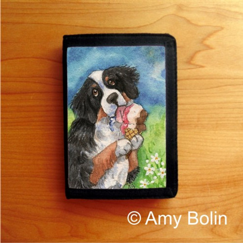 TRIFOLD WALLET · MAKE MINE NEAPOLITAN · BERNESE MOUNTAIN DOG · AMY BOLIN