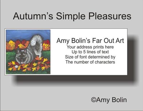 """Autumn's Simple Pleasures"" Norwegian Elkhound Address Labels"