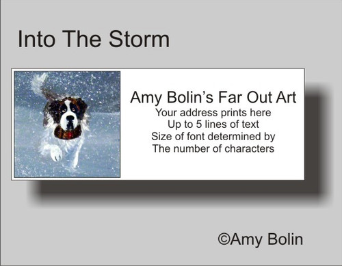 """Into The Storm"" Saint Bernard Address Labels"