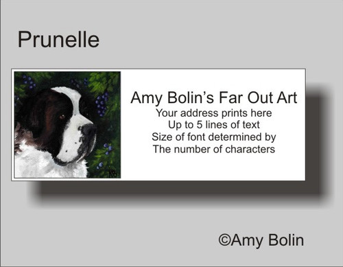 """Prunelle"" Saint Bernard Address Labels"