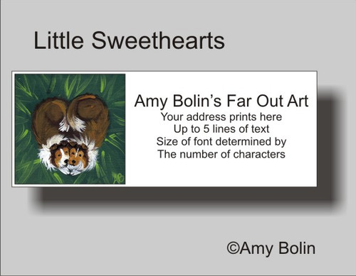 """Little Sweethearts"" Sable Shetland Sheepdog Address Labels"