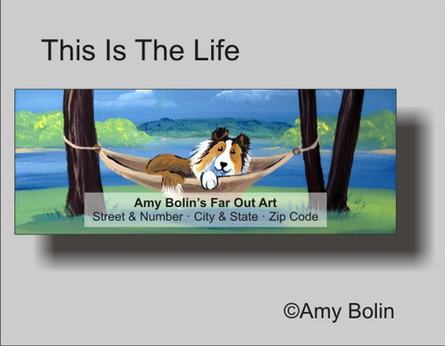 """This Is The LIfe"" Sable Shetland Sheepdog Address Labels"