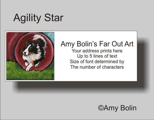 """Agility Star"" Tri Color Shetland Sheepdog Address Labels"