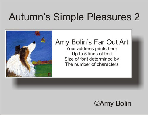 """Autumn's Simple Pleasures 2"" Sable Shetland Sheepdog Address Labels"
