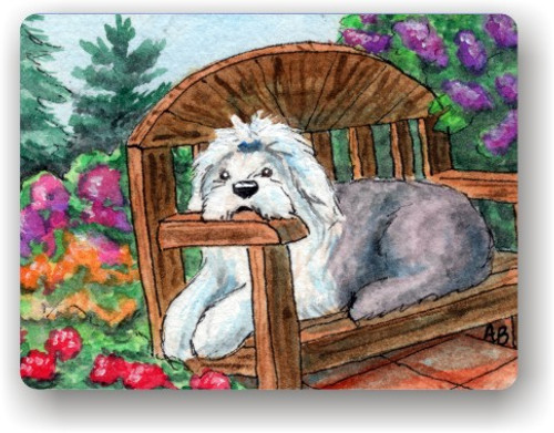"""""""Summer's Simple Pleasures"""" Old English Sheepdog Magnet"""