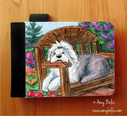 """""""Summer's Simple Pleasures"""" Old English Sheepdog Notebooks (several sizes available)"""