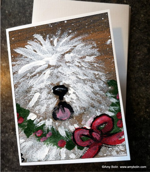 """""""Christmas Traditions"""" Old English Sheepdog Note Cards"""